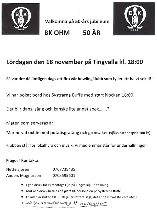 50 års spex Välkomna på 50 års jubileumsfest! | BK Ohm Välkommen! | laget.se 50 års spex