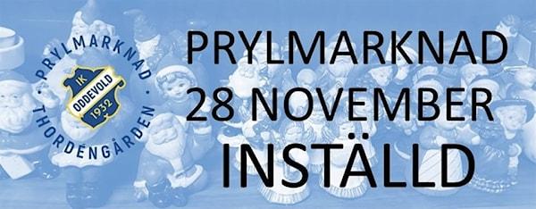 Bild | 23 Nov 2020 - 15:13 Inställd prylmarknad den 28 november